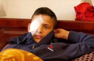 İsrail askerlerinin saldırısında gözünü kaybeden...