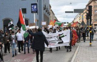 İsveç'te İsrail'in Filistin'e yönelik...