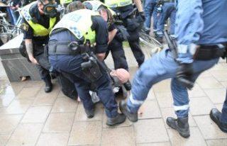 İsveç'te Filistin'e destek gösterisinde...