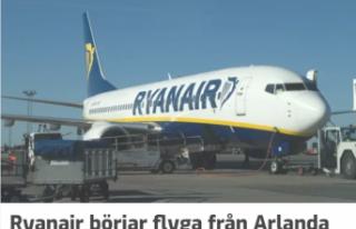 Ryan Air, Stcokholm'den uçuşlarına başlıyor