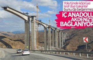 Türkiye'nin en yüksek ayaklı Eğiste Viyadüğü'nde...