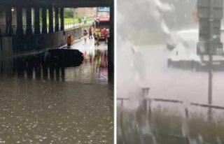 Aşırı yağış, sel taşkını ve Stockholm'de...