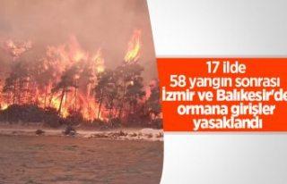 Balıkesir ve İzmir'de ormanlara giriş yasaklandı