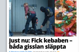 İsveç'te 20 kebap pizza karşılığında rehine...