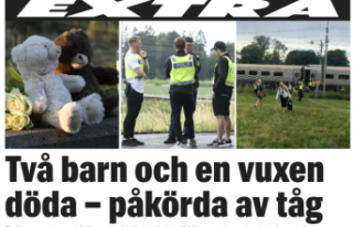 İsveç'te iki çocuk, bir yetişkin trenin altında...