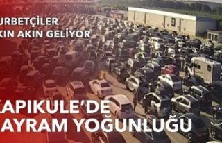 Kapıkule'de bayram yoğunluğu: Gurbetçiler akın...