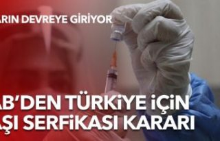 AB, Türkiye'nin aşı sertifikasını tanıma kararı...
