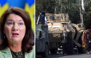 Afganistan'daki İsveç büyükelçiliği personeli...