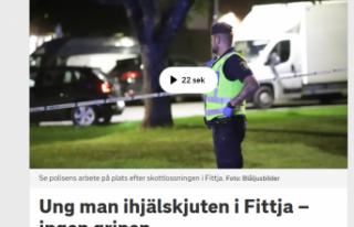Fittja'da bir genç öldürüldü