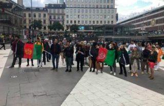 """İsveç'te Taliban protesto edildi, """"Afgan..."""