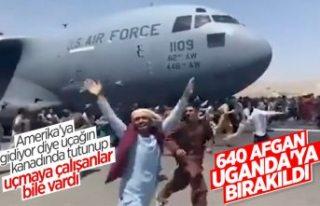 Rusya: Afganları taşıyan ABD uçağı Uganda'ya...