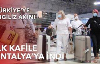 4 ay sonra Antalya'ya ilk İngiliz turist kafilesi...