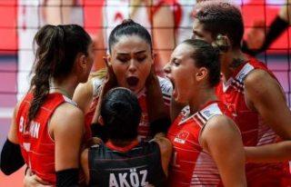 A Milli Kadın Voleybol Takımı 2021 Avrupa Şampiyonasında...