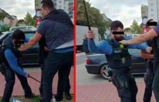Gurbetçiye polis şiddeti