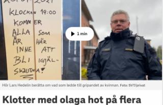 İsveç'te birçok kişiye ölüm tehdidinde...