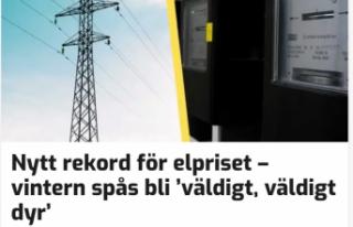 İsveç'te elektrik fiyatında rekor artış
