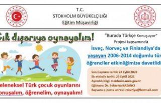 """İsveç'te """"Geleneksel Türk çocuk oyunlarını..."""