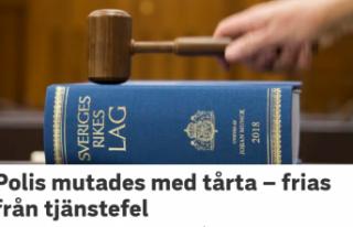 İsveç'te rüşvet olarak yaş pasta alan polis...