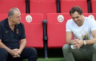 Johan Elmander, Galatasaray Antrenmanını Ziyaret...