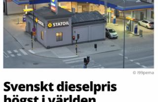 Dünyanın ikinci en pahalı dizel yakıtı İsveç'te...