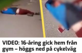 İsveç'te bisiklet yolunda bıçaklanmış 16...