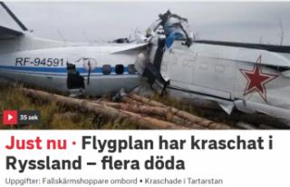 Paraşütçüleri taşıyan uçak düştü:16 ölü,...