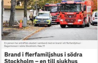 Stockholm'de ailelerin oturduğu evde yangın