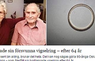 90 yaşında, 64 yıl önce kaybettiği nişan yüzüğünü...