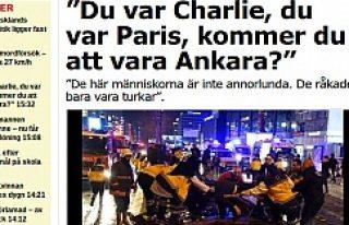"Aftonbaldet: ""Charlie oldunuz. Paris oldunuz...."