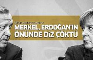 Alman basını: Merkel, Erdoğan'ın önünde...