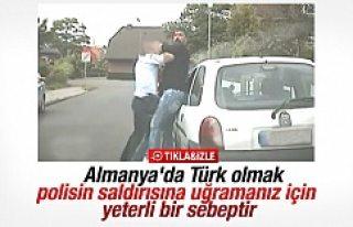 Alman polisinin Türk vatandaşına uyguladığı...