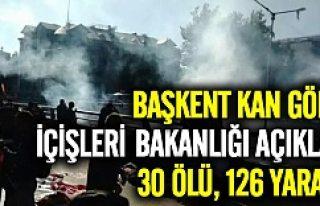 Ankara'da 2 ayrı patlama: En az 30 ölü 126...