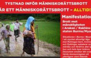 Arakan'da Müslüman katliamı Stockholm'de...