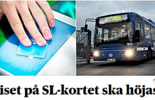 Aylık bilet kartına (Månadskort) yapılacak zam...