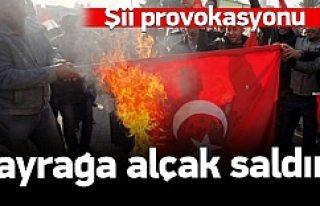 Bağdat'ta Türk Bayrağı'na alçak saldırı