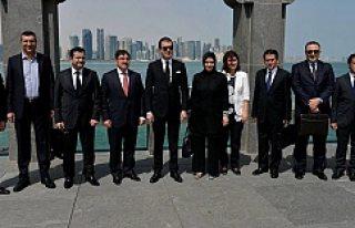 Bakan Çelik ve Büyükelçi Demirok'la birlikte...