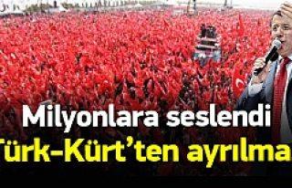 Başbakan Davutoğlu milyonlara seslendi