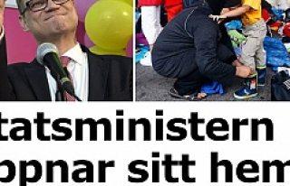 Başbakan  sığınmacılarla evini verdi