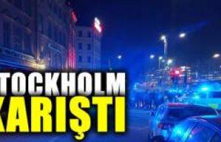Başkent Stockholm'de yüzlerce kişi birbirine...