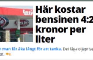 Benzinin litre fiyatı 4 krona düştü...
