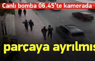 Canlı bombanın kamera görüntüleri çıktı!