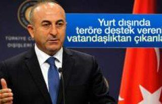 Çavuşoğlu: PKK'ya destek veren vatandaşlıktan...