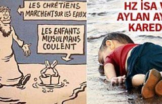 Charlie Hebdo bu kez Aylan'ı çizdi