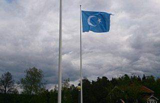 Doğu Türkistan Bayrağı İsveç semalarında dalgalandı