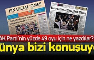 Dünya basınında AK Parti'nin zaferi manşet...