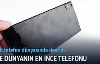 Dünyanın en ince telefonu geliyor