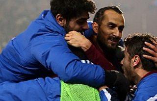 Erkan Zengin Trabzon'da ilk golünü attı...VİDEO