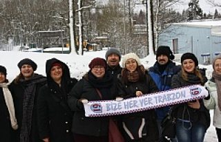 Erkan Zengin'in İsveç'te ki babasına, Trabzon'dan...