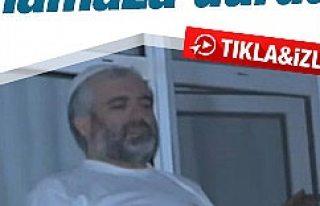 Esenler'de polisi gören hırsız namaza durdu...
