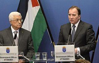 Filistin Devlet Başkanı Mahmut Abbas İsveç'te...VİDEO